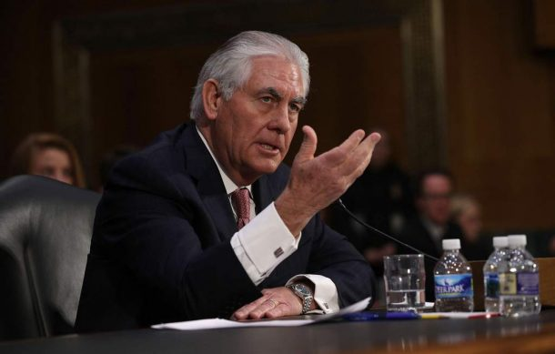 "China ""no ha sido un socio fiable"": Rex Tillerson"